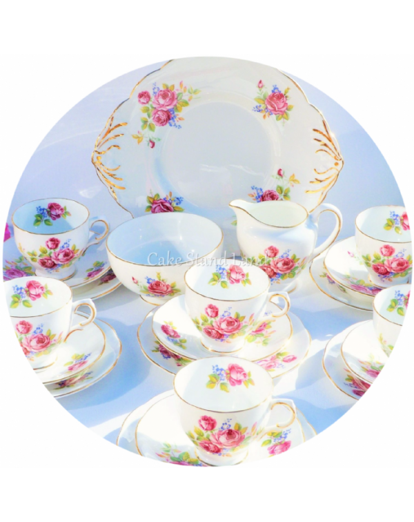 (OUT OF STOCK) SALISBURY BRIDAL SPRAYS TEA SET